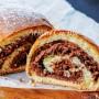 Rotolo brioche bicolore alla nutella dolce da colazione vickyart arte in cucina