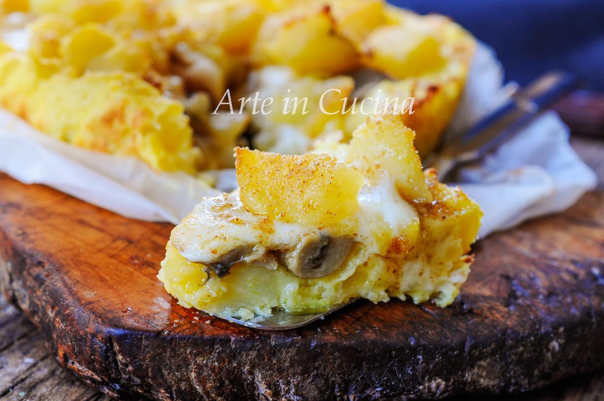 Sbriciolata di patate e funghi gratinata ricetta facile vickyart arte in cucina