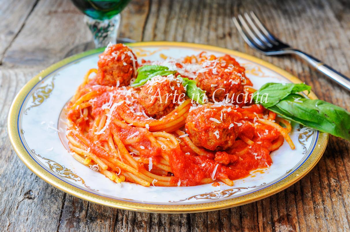 Spaghetti with meatballs con polpette Lilly e il vagabondo vickyart arte in cucina