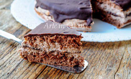 Torta pinguino al cioccolato e nutella veloce