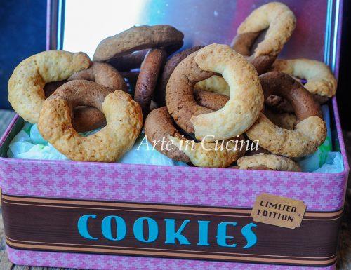 Biscotti panna e cioccolato abbracciati ricetta facile