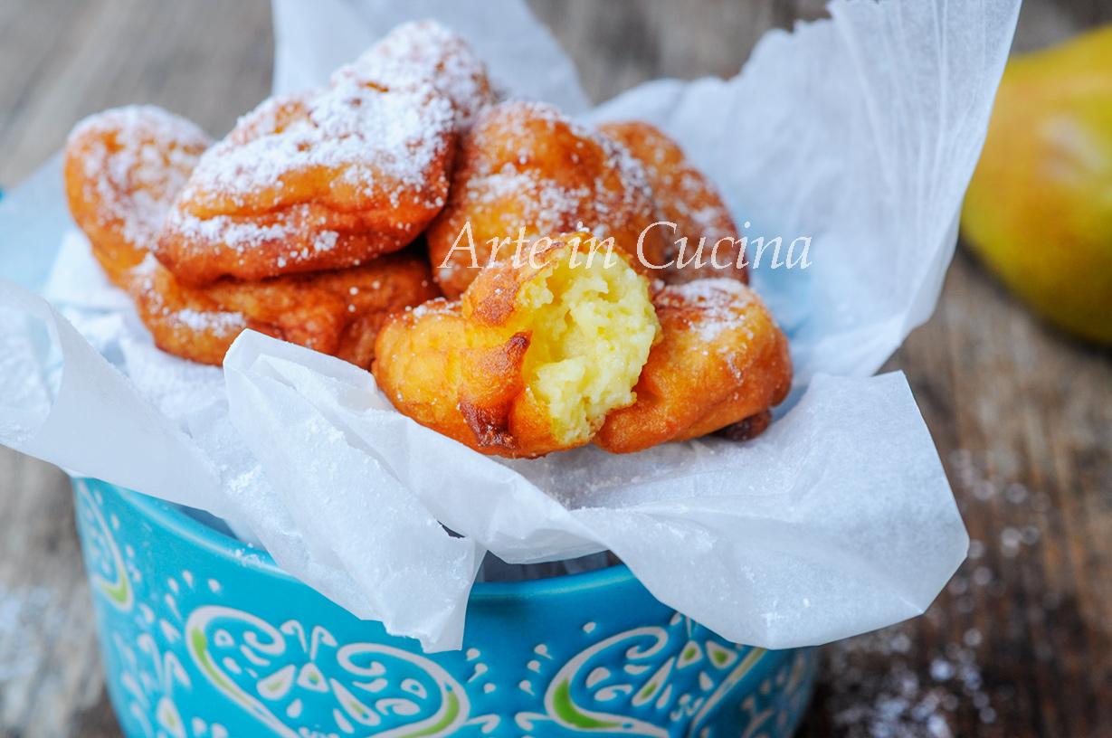 Frittelle ricotta e pera dolce facile e veloce vickyart arte in cucina