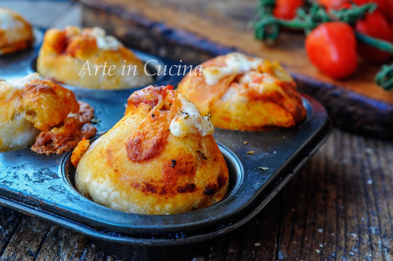 Muffin alla pizza ricetta sfiziosa e facile vickyart arte in cucina