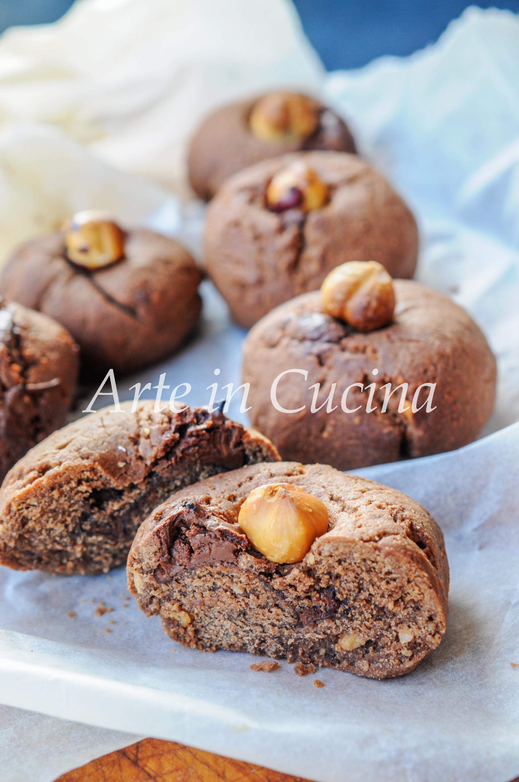 Nocciolotti con nutella biscotti alle nocciole