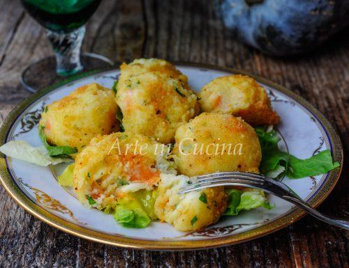 Polpette di patate e zucca con ricotta morbidissime