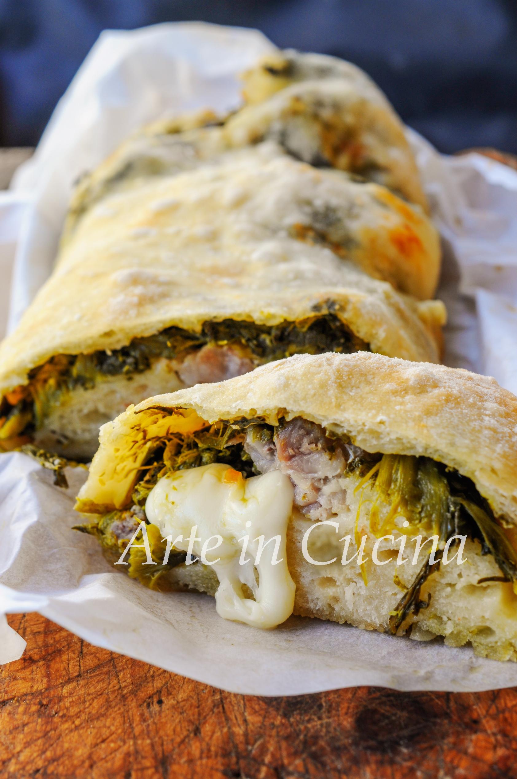 Rotolo salsiccia e broccoletti ricetta facile vickyart arte in cucina