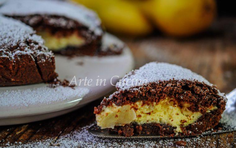 Torta di frolla al cioccolato ricotta e pera