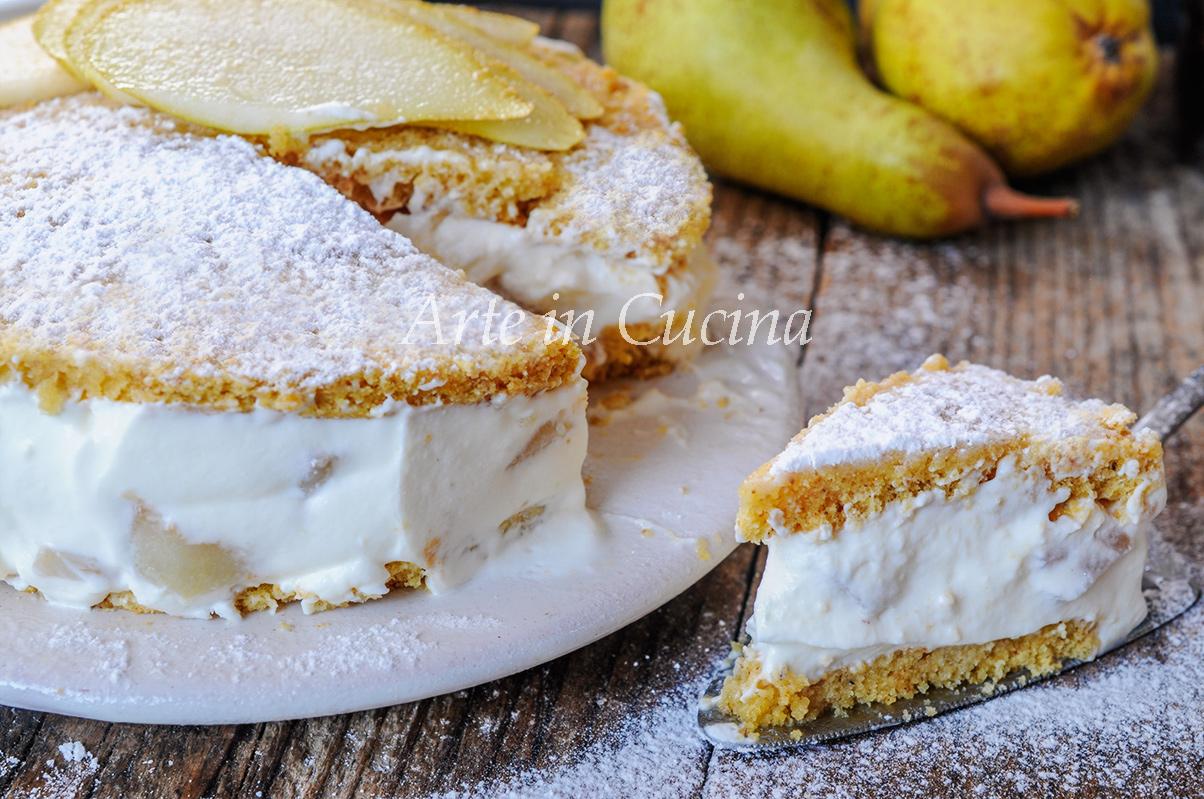 Torta ricotta e pera di Amalfi dolce di Sal de Riso vickyart arte in cucina