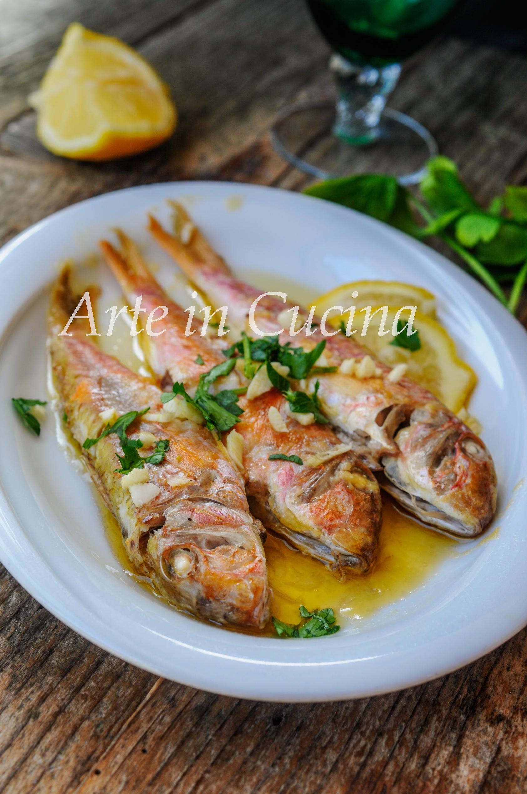 Triglie al limone in padella ricetta facile e veloce vickyart arte in cucina
