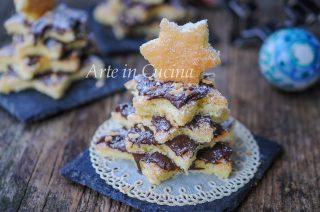 Alberelli dolci di pasta biscotto alla nutella veloci vickyart arte in cucina