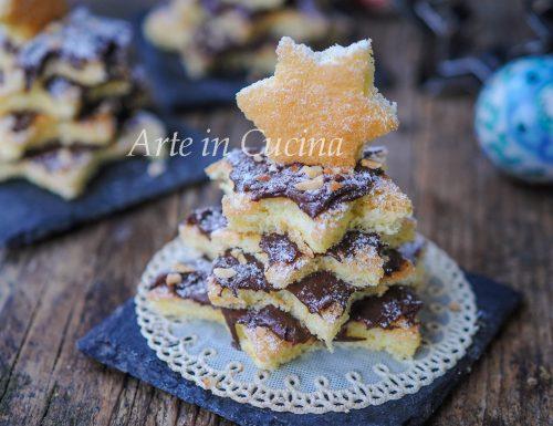 Alberelli dolci di pasta biscotto alla nutella veloci