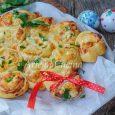 Alberello di brisè salmone e robiola ricetta veloce vickyart arte in cucina