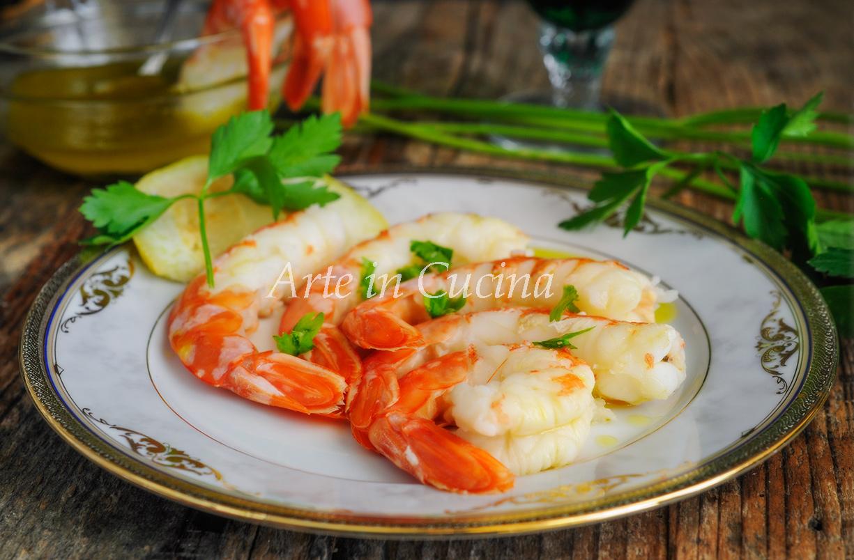 Gamberoni lessi marinati al limone ricetta facile vickyart arte in cucina
