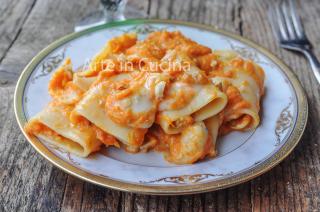 Paccheri alla zucca gorgonzola e noci ricetta veloce vickyart arte in cucina