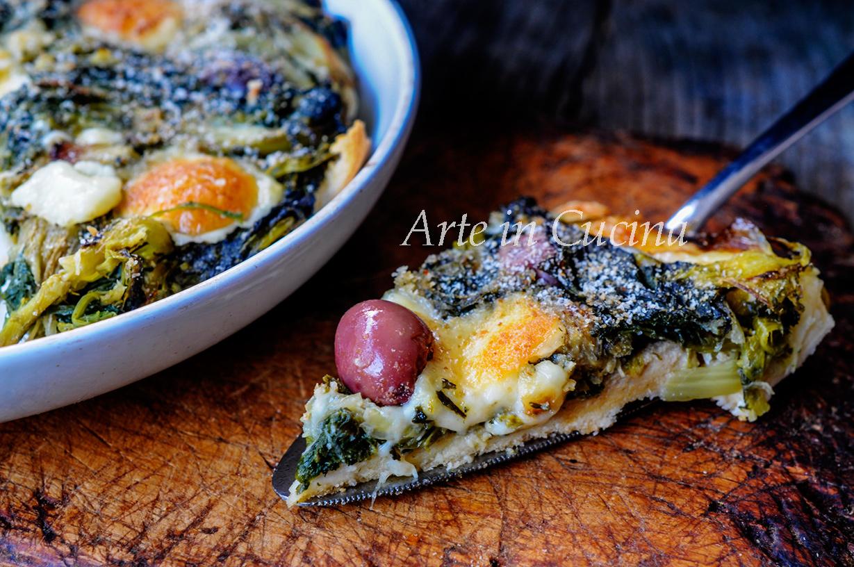 Pizza finta di scarole ricetta veloce e facile vickyart arte in cucina