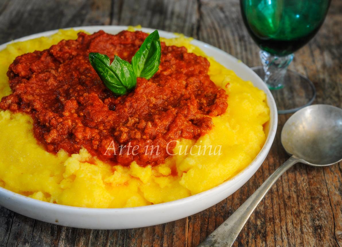 Polenta con ragù ricetta semplice e saporita vickyart arte in cucina
