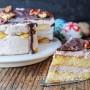 Torta alle noci e cioccolato con savoiardi vickyart arte in cucina