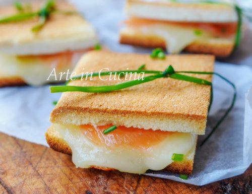 Tramezzini al salmone antipasto veloce