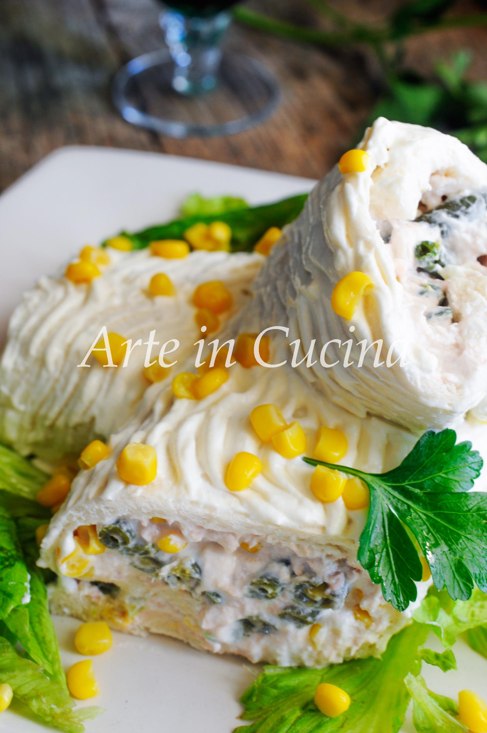Tronchetto salato al tonno ricetta veloce vickyart arte in cucina