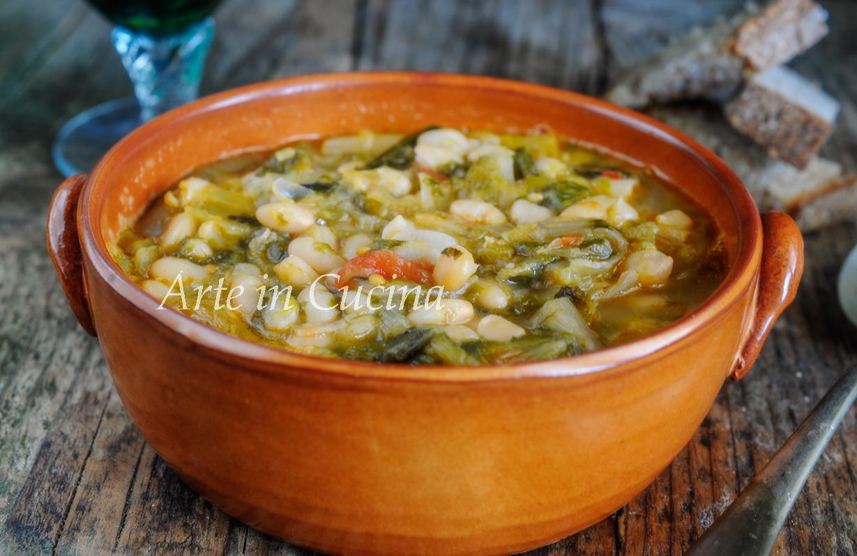 Fagioli con scarole ricetta napoletana vickyart arte in cucina