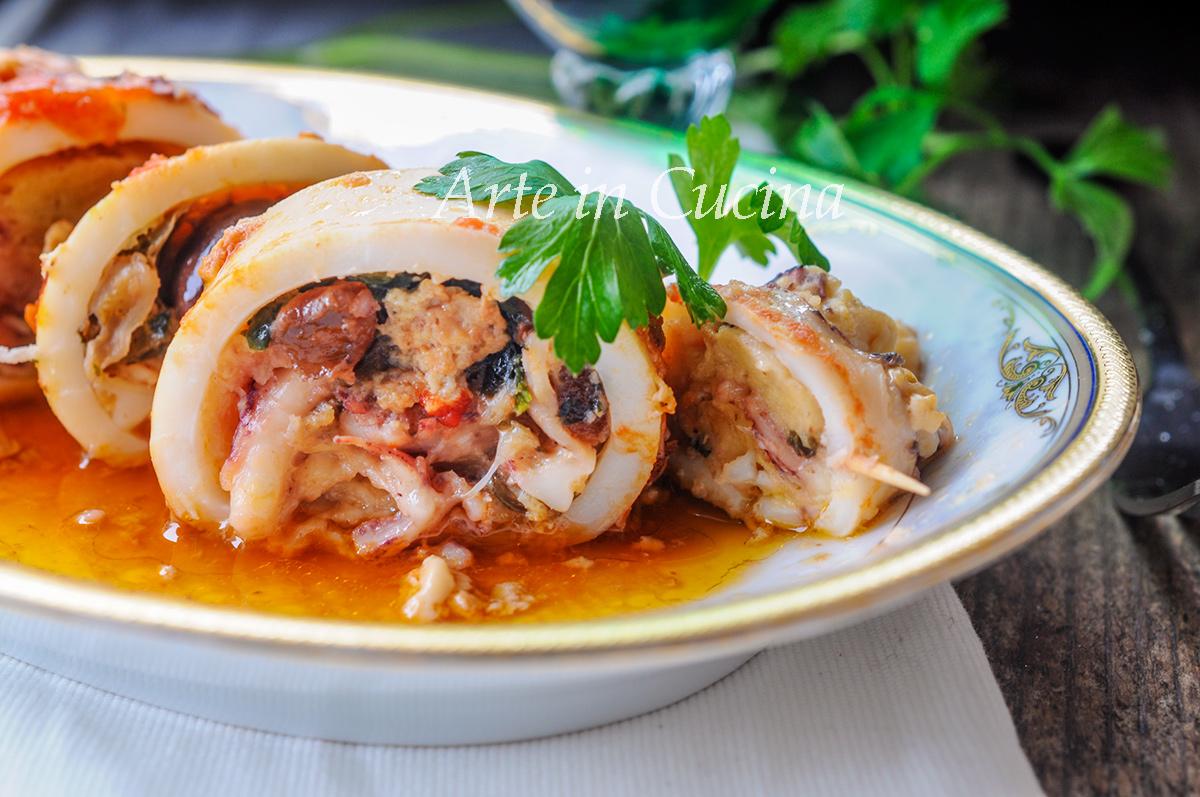 Calamari ripieni alla siciliana ricetta facile vickyart arte in cucina