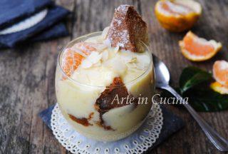 Coppa di pandoro crema di mandorle e mandarino Vickyart arte in cucina