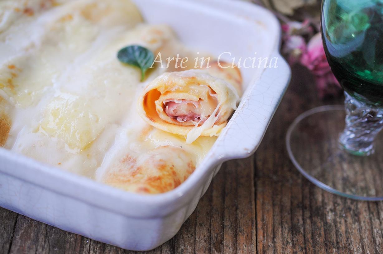 Crepes al forno con prosciutto e formaggio vickyart arte in cucina