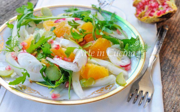 Insalata con arance finocchi e melograno