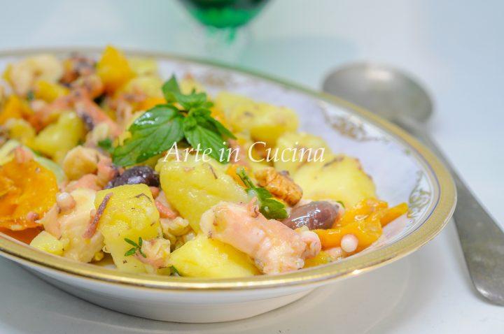 Insalata polpo peperoni e patate sfiziosa vickyart arte in cucina