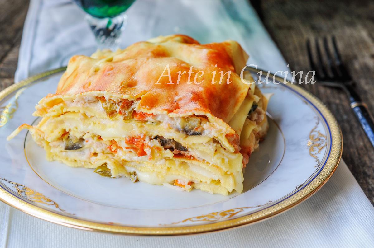 Lasagne al tonno e verdure veloce vickyart arte in cucina