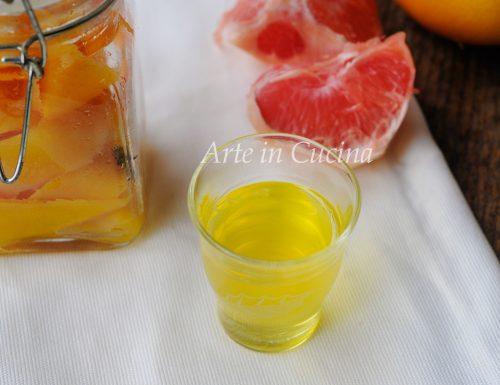 Liquore al pompelmo ricetta facile