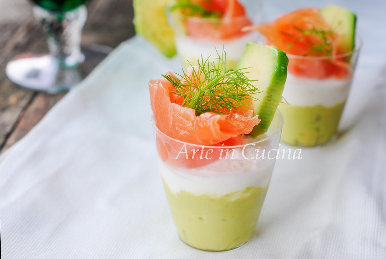 Mousse di avocado e salmone antipasto vickyart arte in cucina