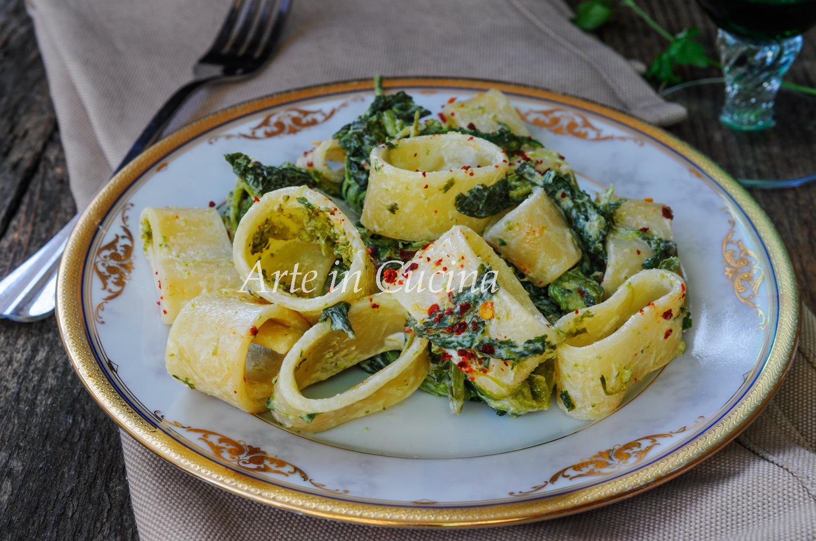 Calamarata cremosa con broccoletti facile vickyart arte in cucina
