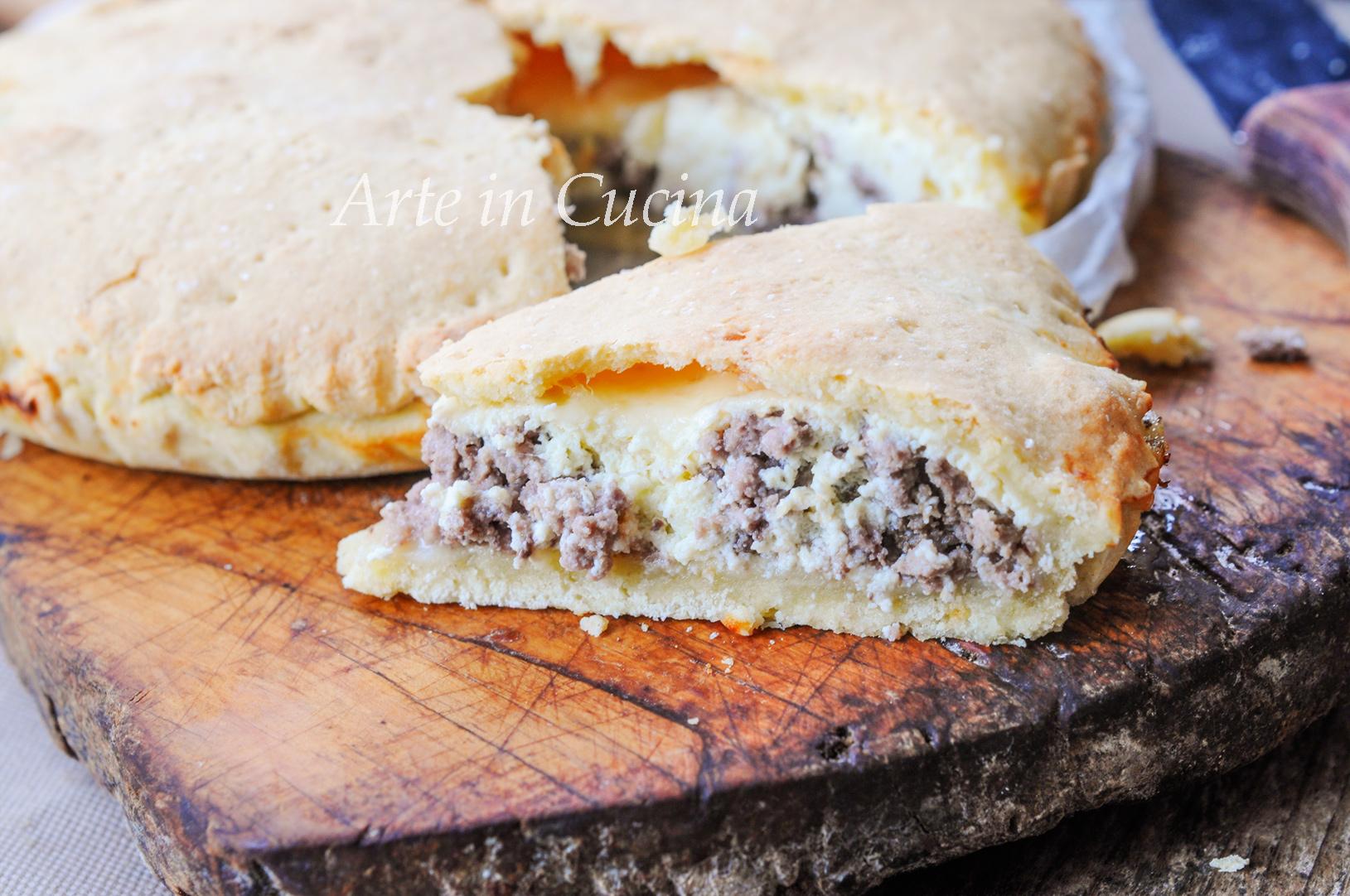 Calzone di carnevale con carne barese vickyart arte in cucina