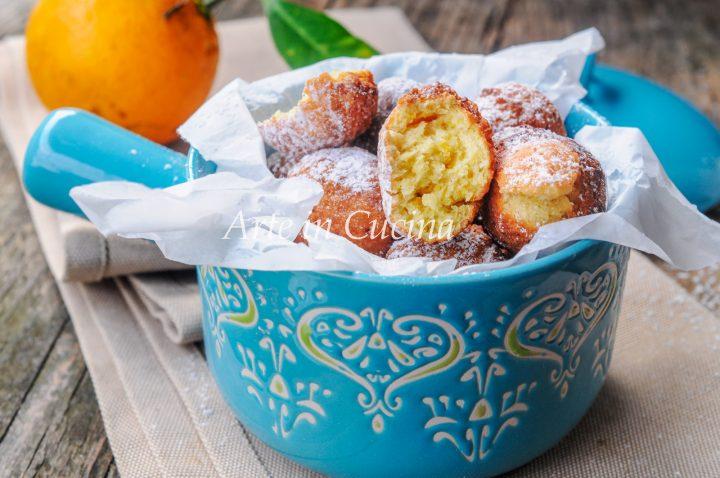 Castagnole ricotta arancia e mandorle vickyart arte in cucina