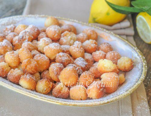 Gnocchi di carnevale al limone veloci