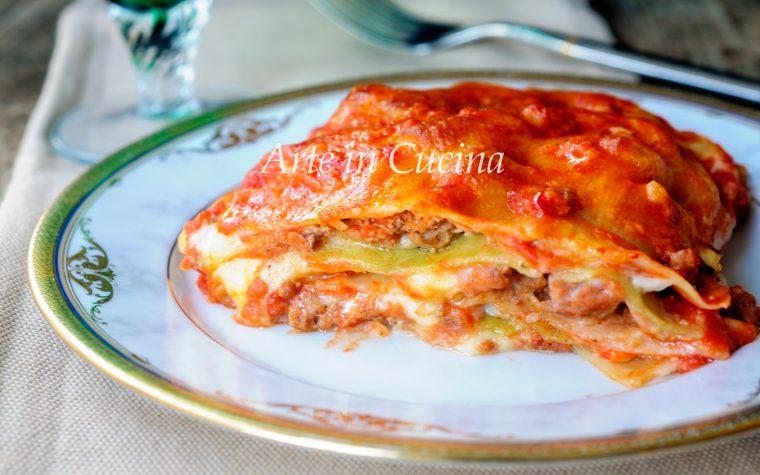 Lasagna alla bolognese con sfoglia verde