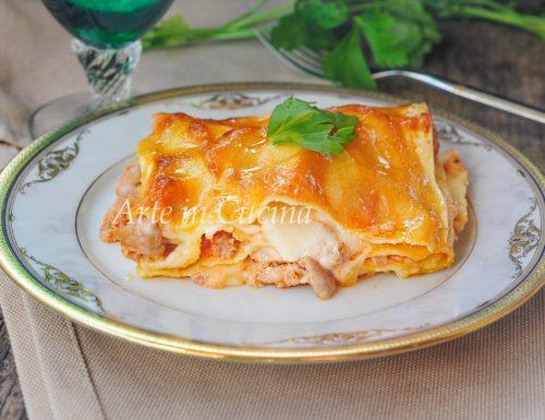 Lasagne salsiccia e provola veloci