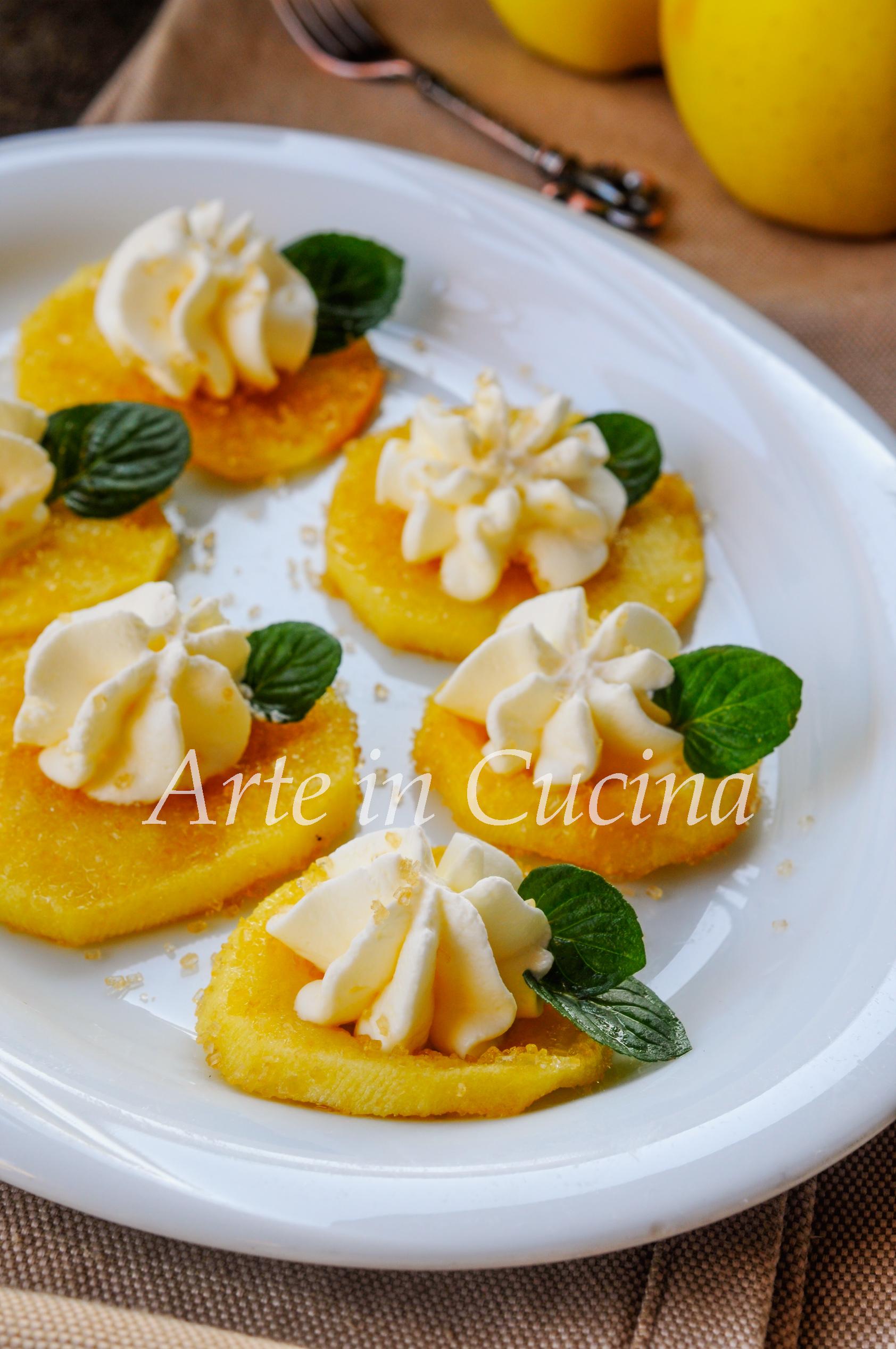 Mele grigliate con crema veloce vickyart arte in cucina