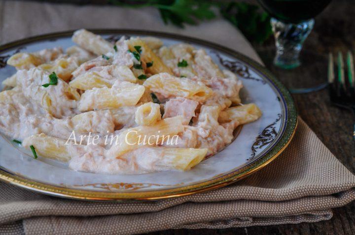 Pasta al tonno cremosa ricetta veloce vickyart arte in cucina