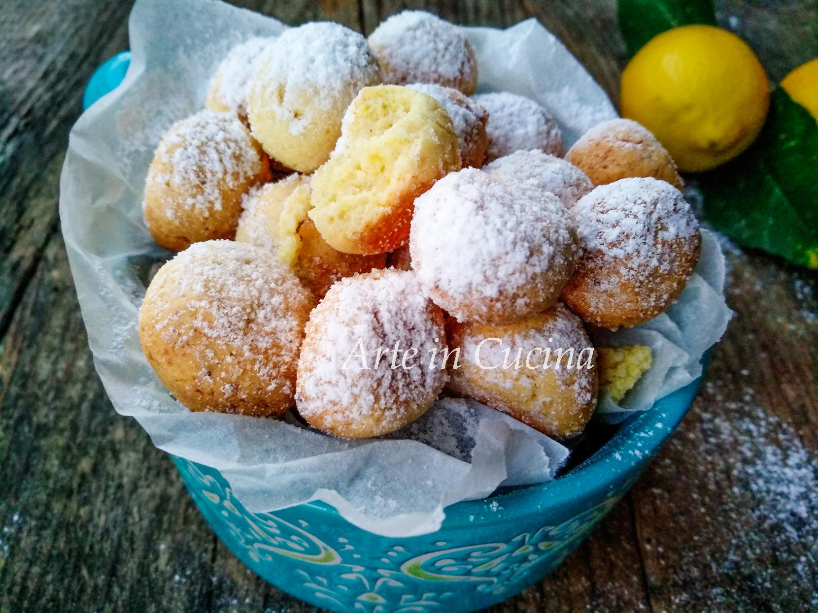 Pepite dolci al limone ricetta veloce vickyart arte in cucina