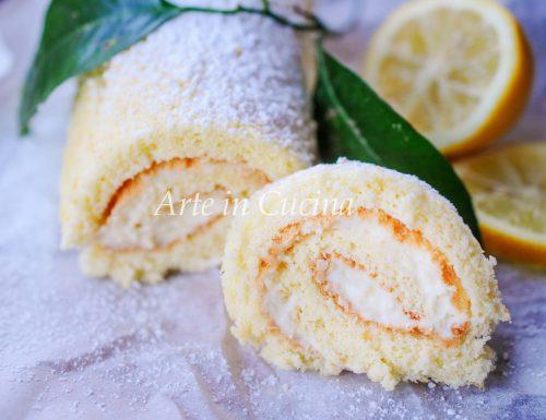 Rotolo al limone crema e ricotta