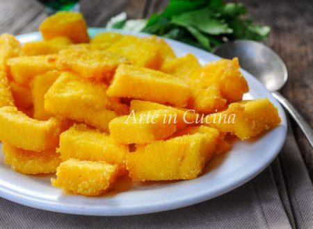 Scagliozzi di polenta fritta veloce