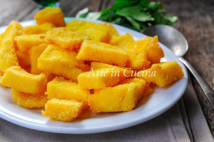 Scagliozzi di polenta fritta ricetta tipica vickyart arte in cucina