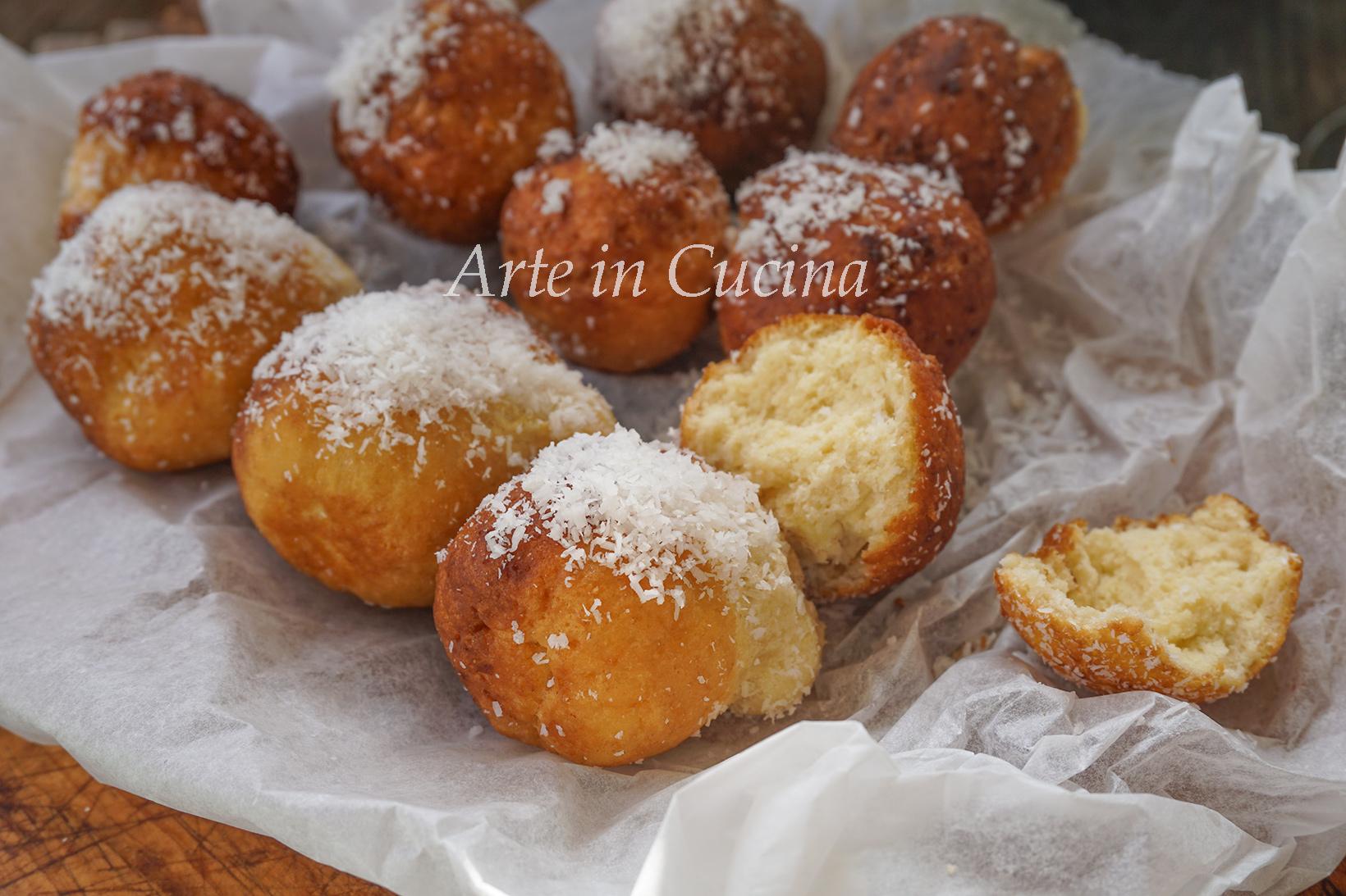 Castagnole al cocco ricetta dolci di carnevale vickyart arte in cucina