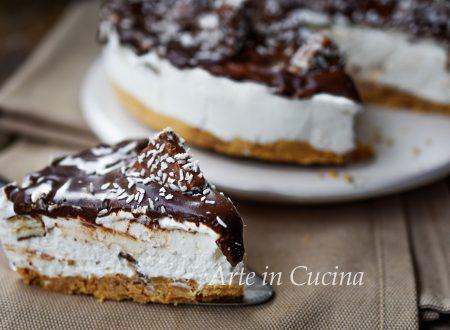 Cheesecake cocco e cioccolato veloce