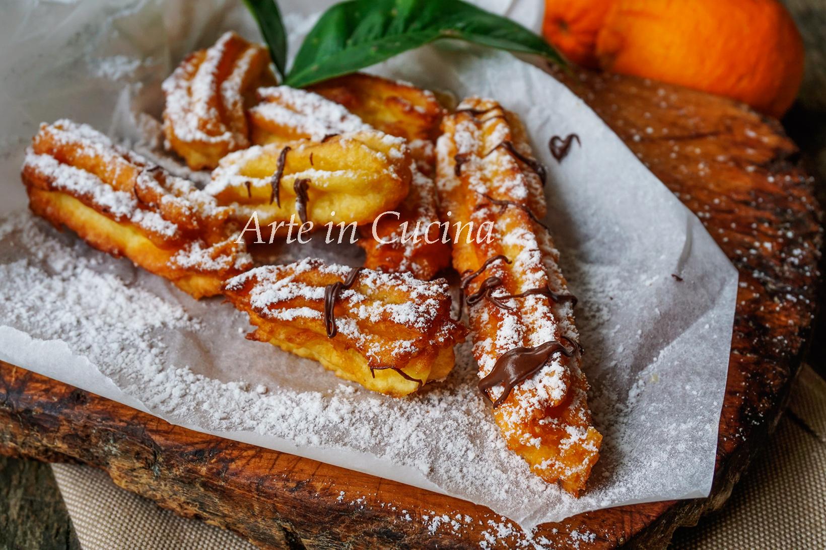 Churros all'arancia ricetta facile vickyart arte in cucina