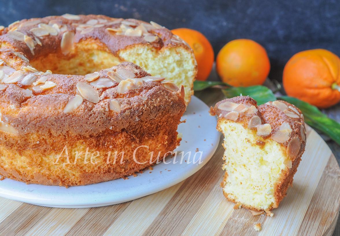 Ciambella mandorle e arancia morbidissima vickyart arte in cucina