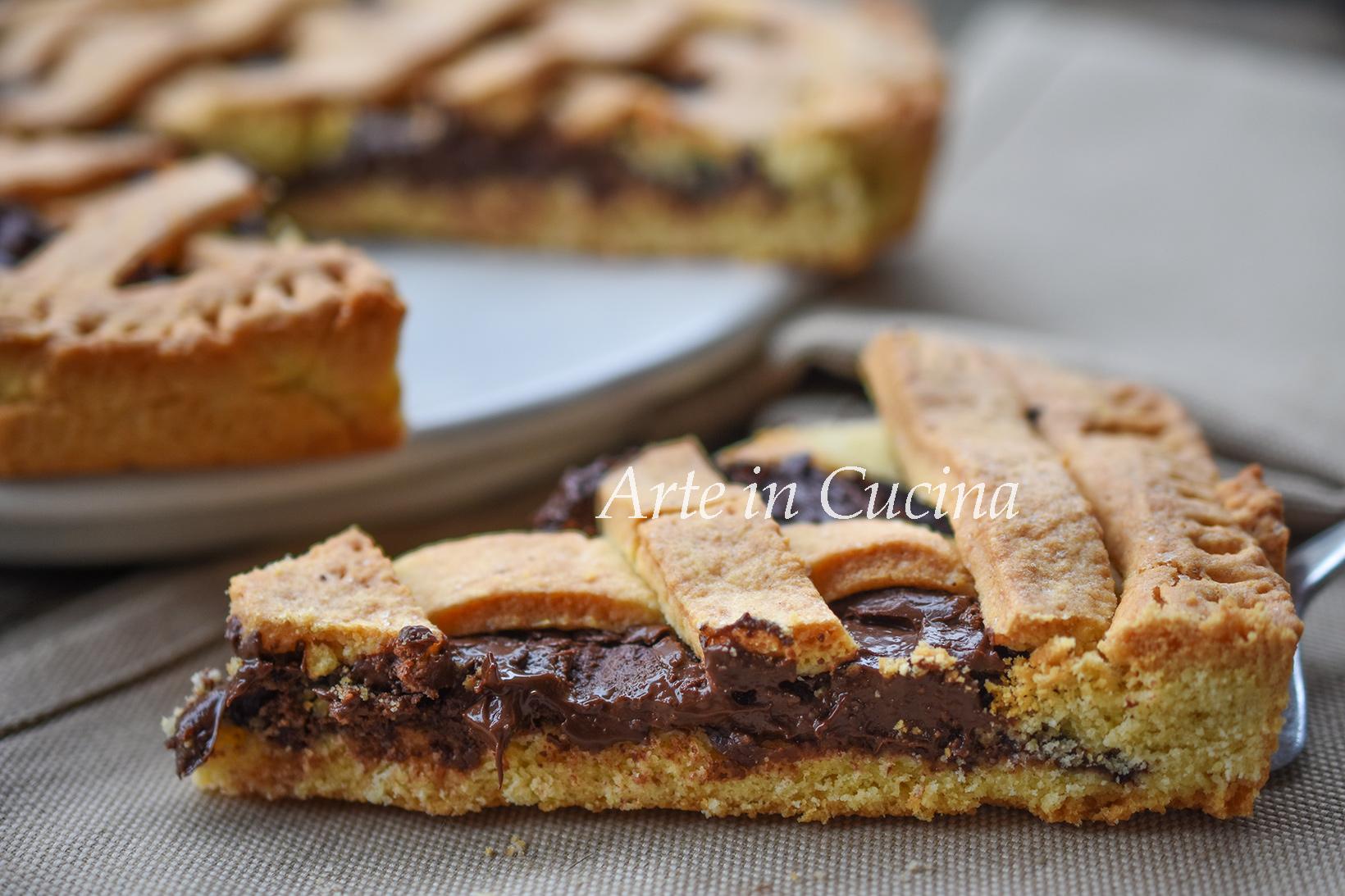 Crostata alla nutella morbida con bimby o senza vickyart arte in cucina