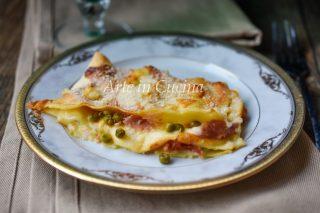 Lasagne con piselli e prosciutto al forno vickyart arte in cucina